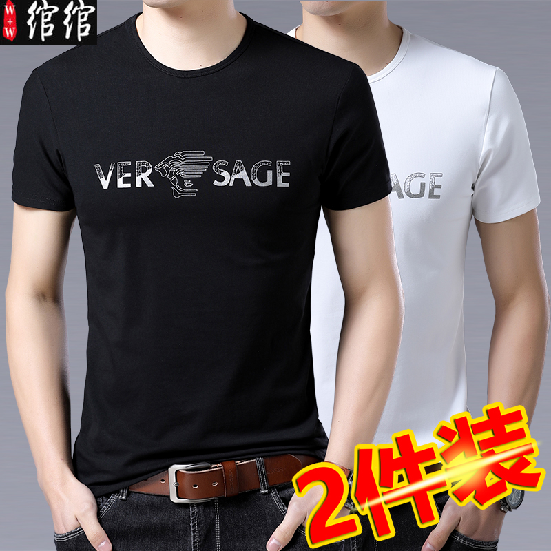 Short sleeve t-shirt mens summer casual round neck cotton T-shirt for men