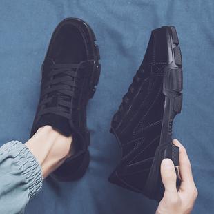 男上班鞋 纯黑色男鞋 冬季 子厨师鞋 防滑板鞋 耐磨运动防油厨房工作鞋