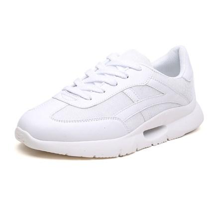 夏季学生韩版纯白色高中生小白鞋