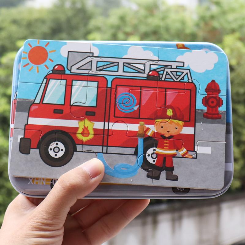 儿童木质卡通汽车交通工具9片2012月02日最新优惠