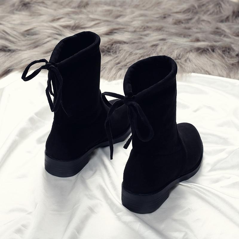 棉鞋马丁靴子秋款韩版百搭2017新款平底短靴冬季秋冬加绒女鞋子潮