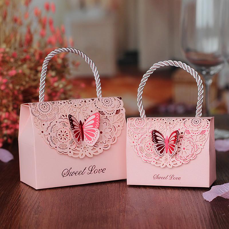 喜品空间创意欧式喜糖盒子结婚纸盒手提糖果包装个性婚庆糖盒