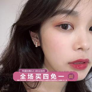 林肉完冷淡風小巧耳墜精緻珍珠小耳釘女氣質韓國個性簡約網紅耳環