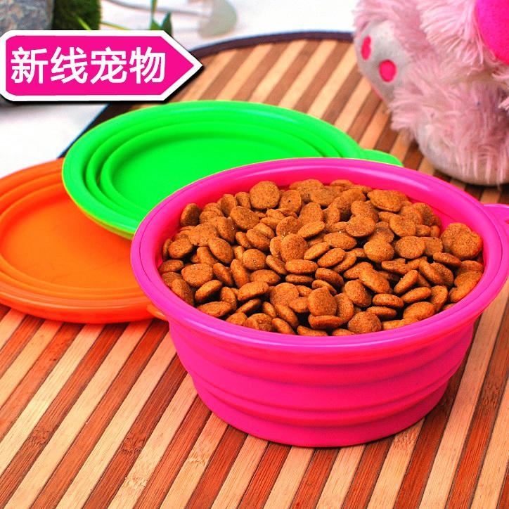 Силиконовые собака pet Bowl складной воды из чаши должн иметь Портативный мягкая кошка чаша