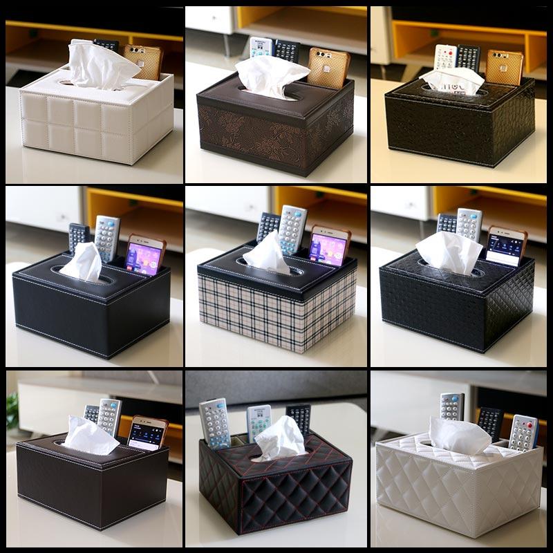 简约家用客厅餐巾多功能抽纸巾盒创意茶几放电视遥控器收纳盒可爱