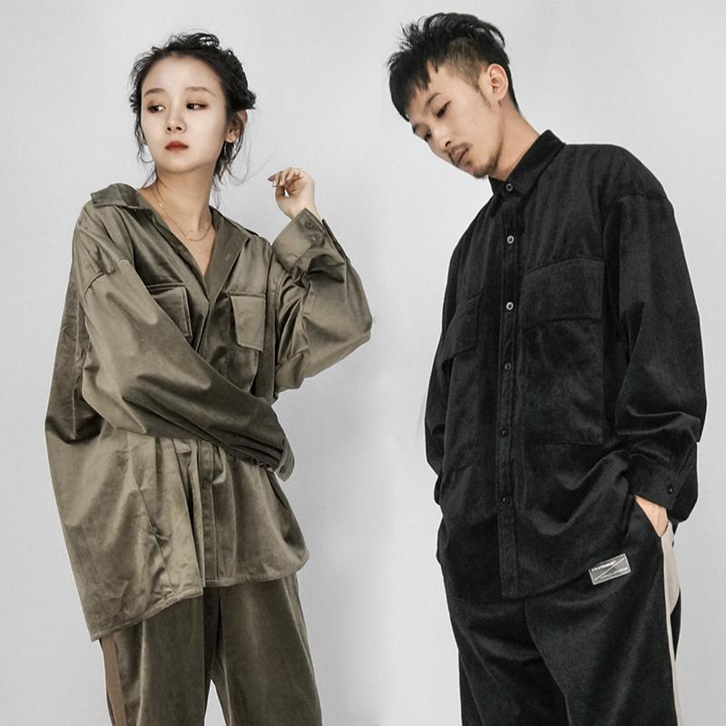 STR:SMOOTH OVERSIZE SHIRT/顺滑柔软 工业质感宽松衬衫