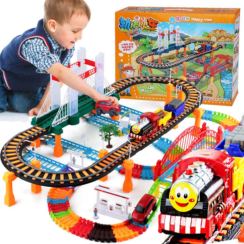電動小火車頭軌道車兒童小男孩男童玩具汽車托馬斯套裝3 4 5 6 歲