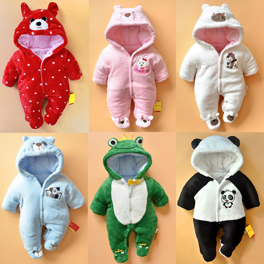New born baby baby conjoined autumn and winter extra thick climbing clothes for men and women