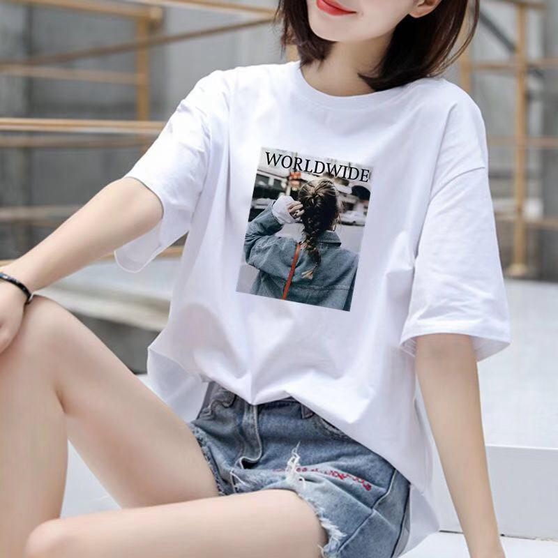 白色T恤女打底衫宽松大码内搭半袖韩版春装夏季新款2020短袖ins潮图片