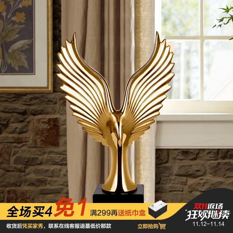 雄鹰展翅 创意轻奢家居装饰摆件陶瓷工艺品 酒柜电视柜办公室摆设