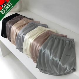 安全裤女夏防走光外穿薄款丝滑宽松短裤仿真丝居家睡裤黑色打底裤图片