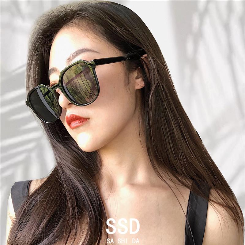 蕉下墨镜折叠琥珀韩国ulzzang复古方框茶色超轻太阳眼镜小框圆脸