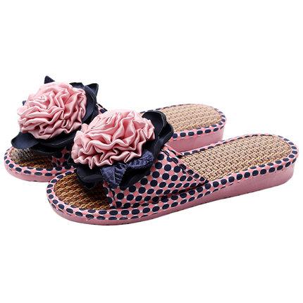夏季家居室内地板厚底软底亚草拖鞋