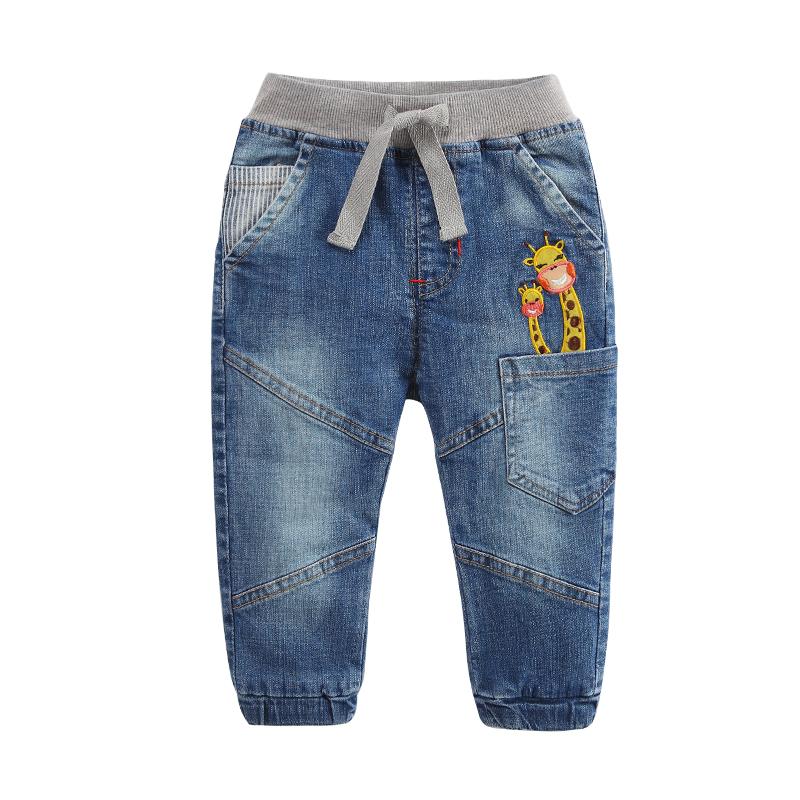 拉比樹2016 新品 長頸鹿兒童牛仔褲 寶寶褲子嬰兒長褲男女