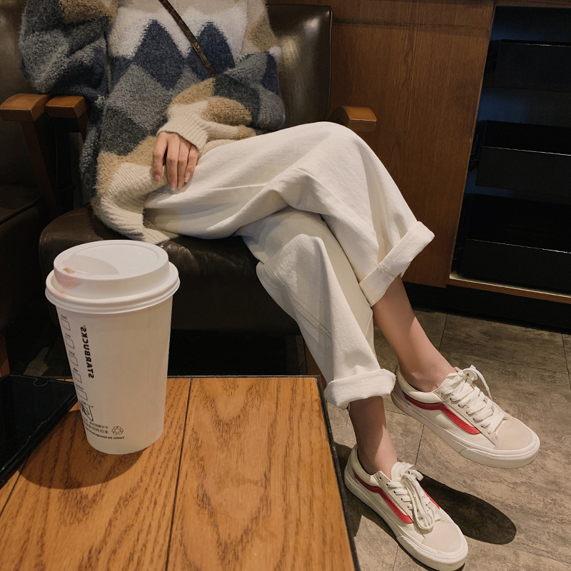 孕妇裤子春秋款新款外穿白色九分牛仔裤宽松哈伦阔腿托腹裤潮2020