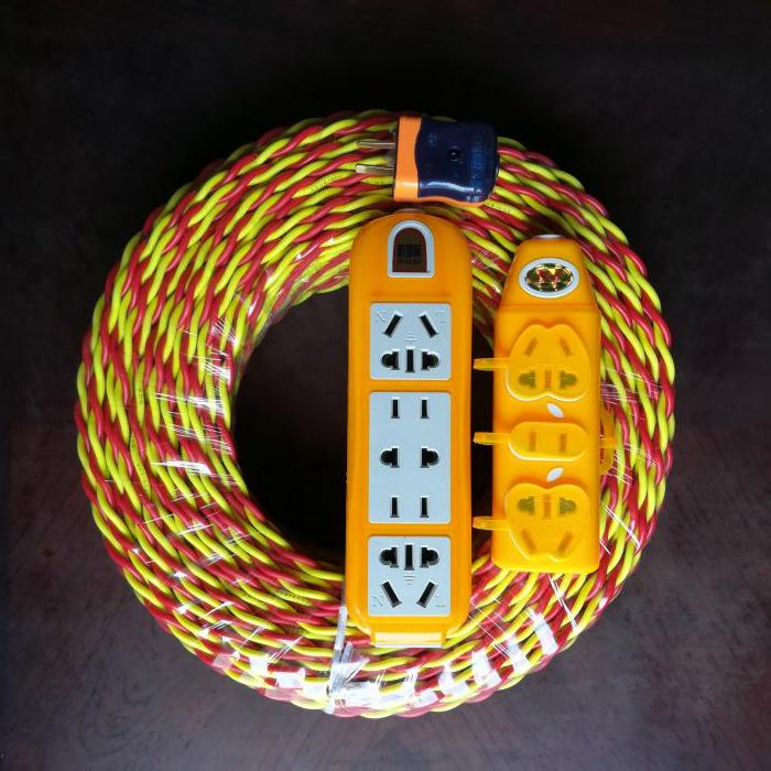 Бесплатная доставка RVS цветочная электричество автомобильное зарядное устройство провод держатель лампы мягкий струя пара твист линия медь пакет алюминий 2 ядро домой на открытом воздухе провод