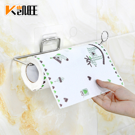 包邮实心不锈钢厕所卫生间纸巾架浴室免打孔卷纸架厨房杂物收纳架