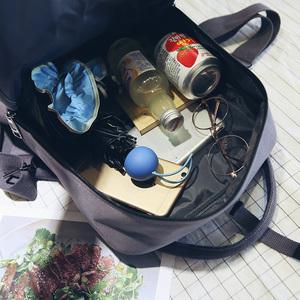 原宿日韩版森系双肩包女休闲帆布多用背包潮电脑包学院风学生书包