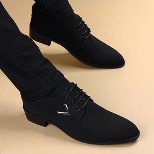 秋季男士商务正装休闲英伦尖头皮鞋