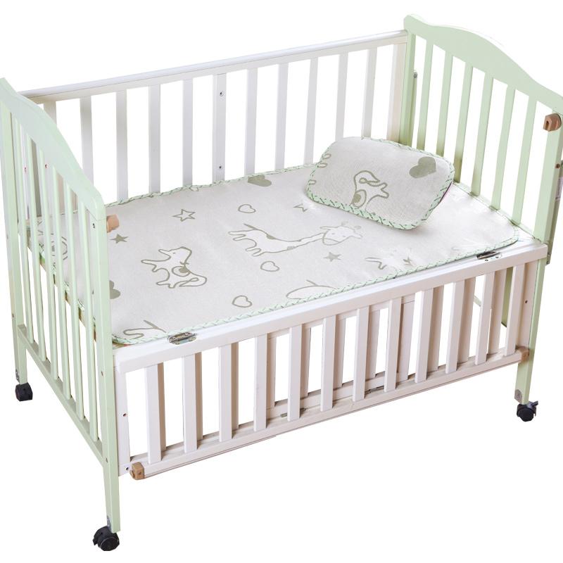 貝優氏 嬰兒涼席寶寶床嬰兒床 冰絲席子幼兒園小床枕頭套