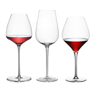 勃艮第水晶紅酒杯套裝家用大號高腳杯一對情侶歐式玻璃醒酒器酒具