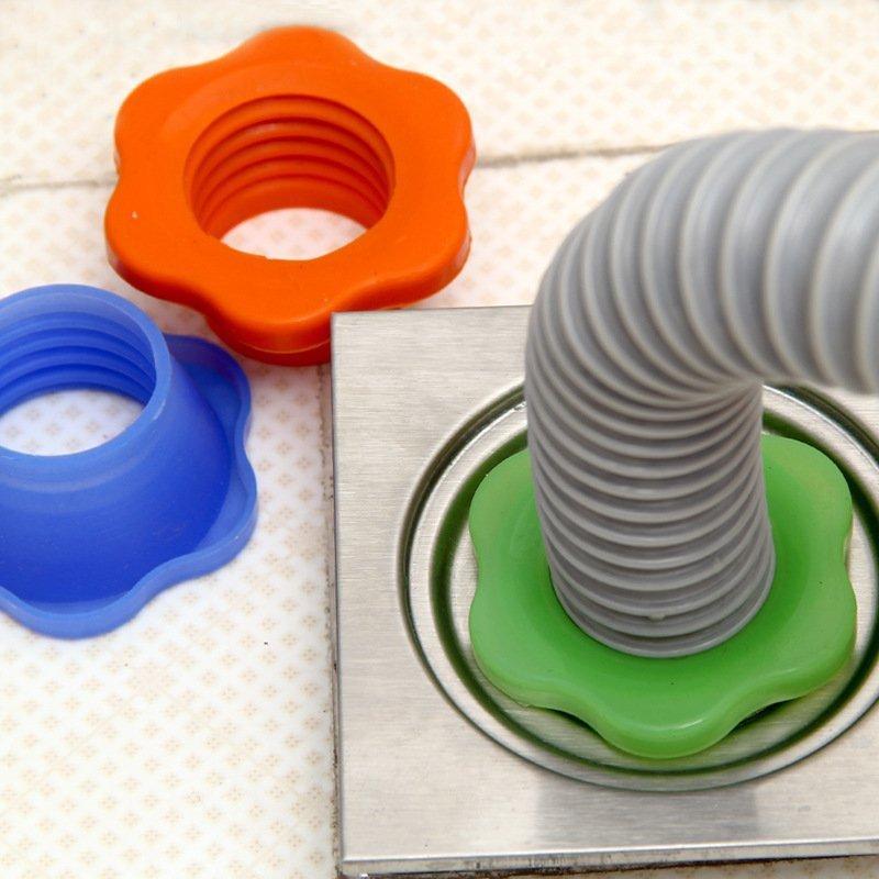 Творческий кружево тип запуск трубы дорога дезодорация силиконовый перстнем ванная комната стиральная машина дренажная труба противо насекомое трап пробка