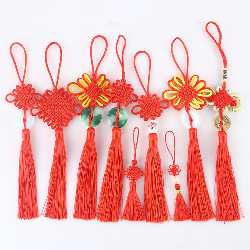 中国结小号6盘结挂件红色喜庆居家挂饰民间特色手工艺新年小礼品