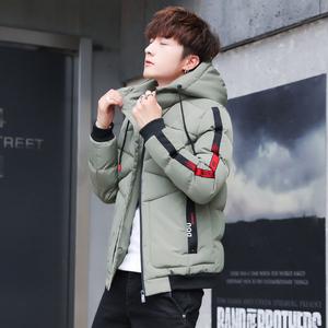 棉衣男2019冬季新款帅气短款棉服韩版修身潮流男装羽绒棉袄子外套