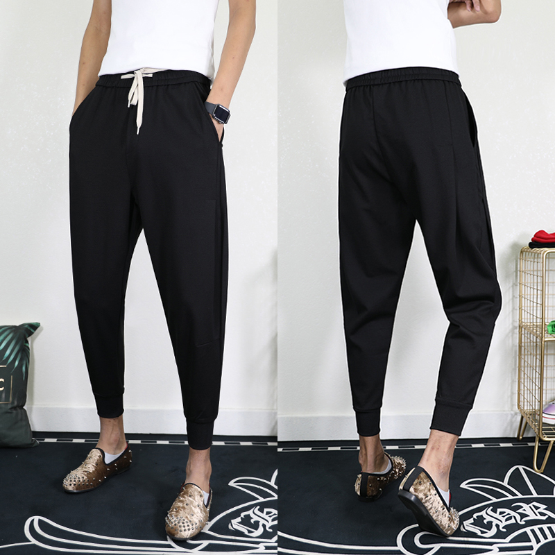 Net red pants new casual Capris for boys and girls in spring and summer loose Harlan Leggings Black Warrior Leggings