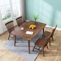 北欧全实木餐桌椅组合吃饭桌子家用餐厅现代简约餐桌长方形小户型