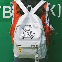 Удар мир рюкзак пакет харадзюку литература и искусство обруч твердый рюкзак пакет мужской и женщины студент рюкзак