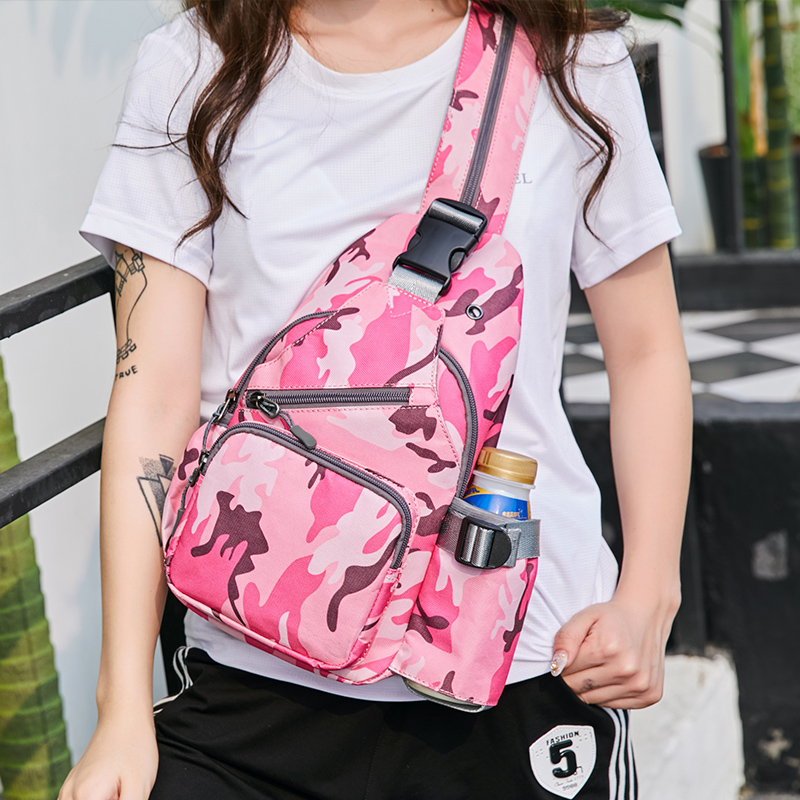 Chest bag womens dual-purpose ins straddle leisure versatile multi-functional single shoulder small double shoulder backpack womens front Crossbody Bag