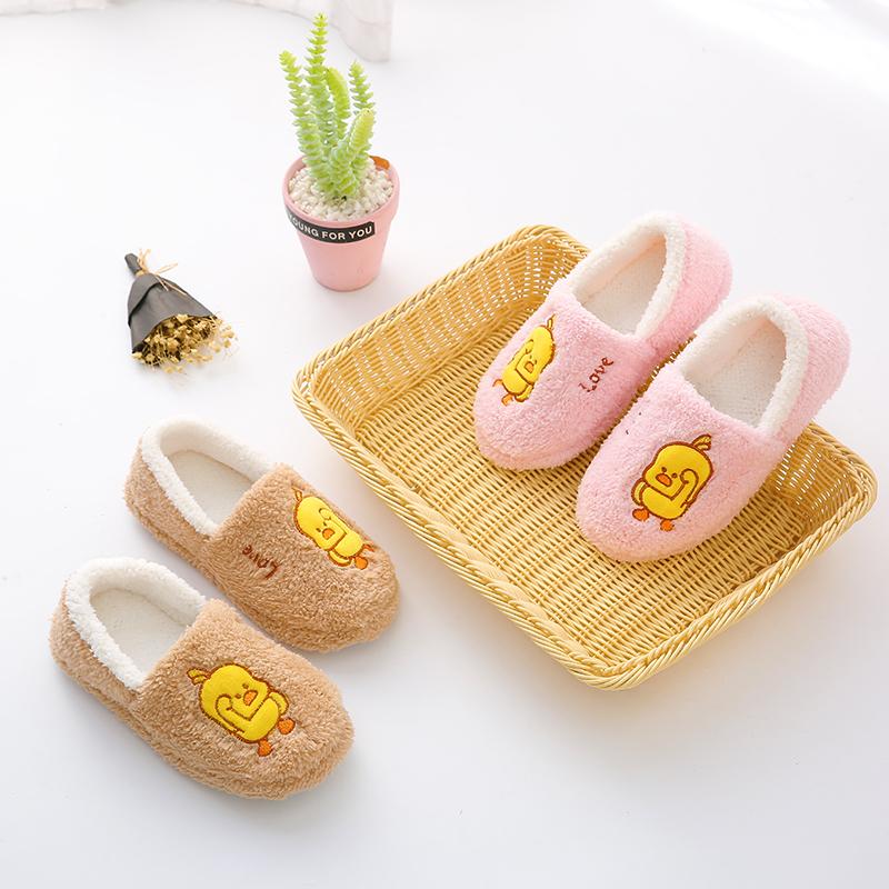 棉拖鞋女冬季家居包跟室内家用产后情侣毛绒月子鞋可爱秋冬棉鞋