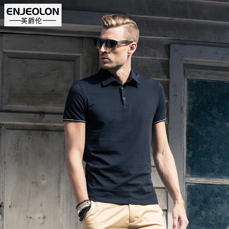 2020夏季新款 欧美男士POLO衫短袖保罗衫修身商务翻领T恤带领上衣