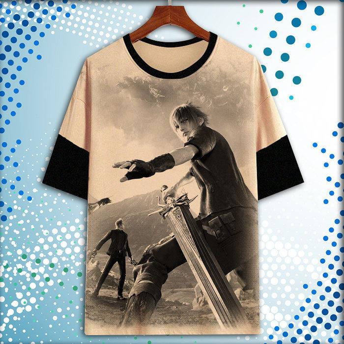 最终幻想 克劳德 扎克斯 萨菲罗斯短袖衣服T恤半袖上衣痛衣周边