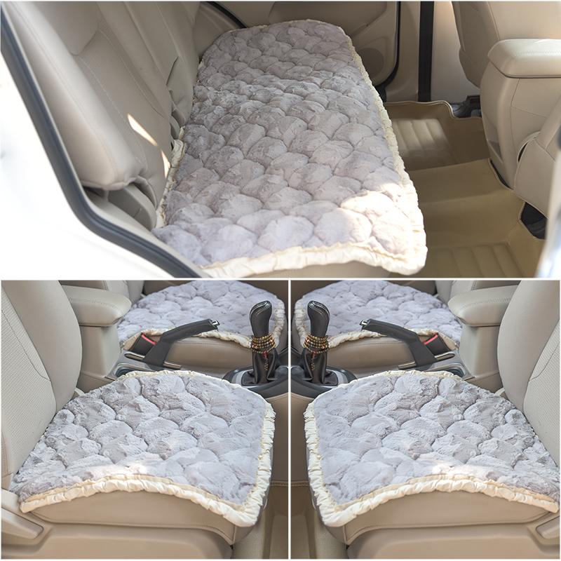天天特价冬季汽车坐垫无靠背毛绒座垫三件套通用汽车轿车坐垫单片