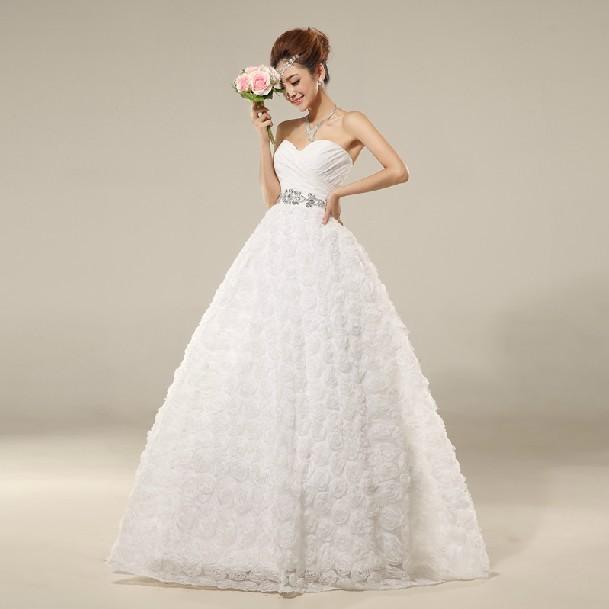 Кружева свадебное платье груди v-образным вырезом принцесса pettiskirt новые осени и зимы приносят ремни свадебное платье спец email 2014