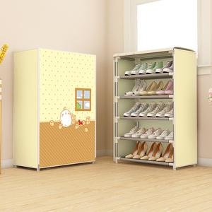 多层鞋架子简易门口防尘收纳家用经济型可拆装宿舍鞋柜欧式带布套