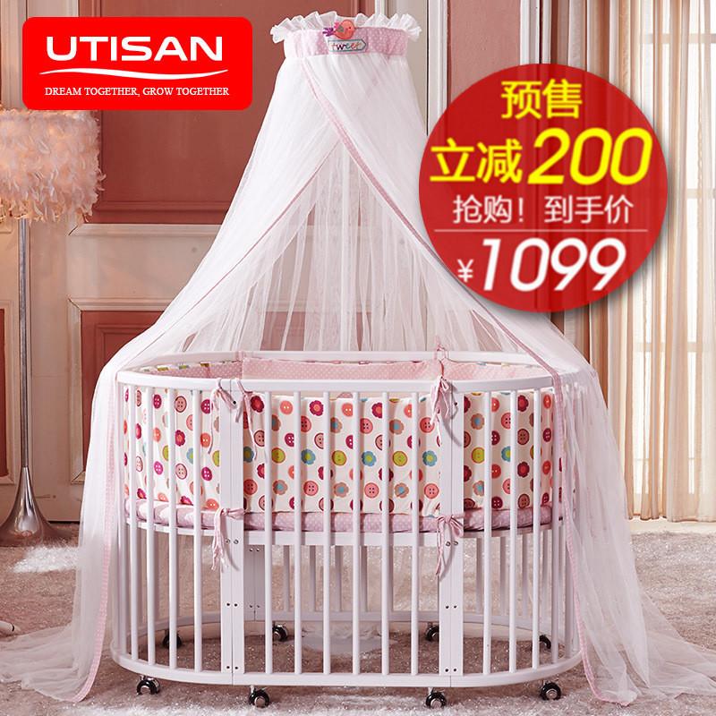 Подсолнечник генерал домой кровать для младенца с круглой кроватью ребенок кровать все деревянные многофункциональный переменная письменный стол диван круглый BB кровать игра кровать