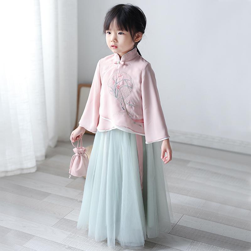 (用5元券)汉服女童 中国风童装春秋装小女孩古风仙女宝宝儒裙新款儿童唐装