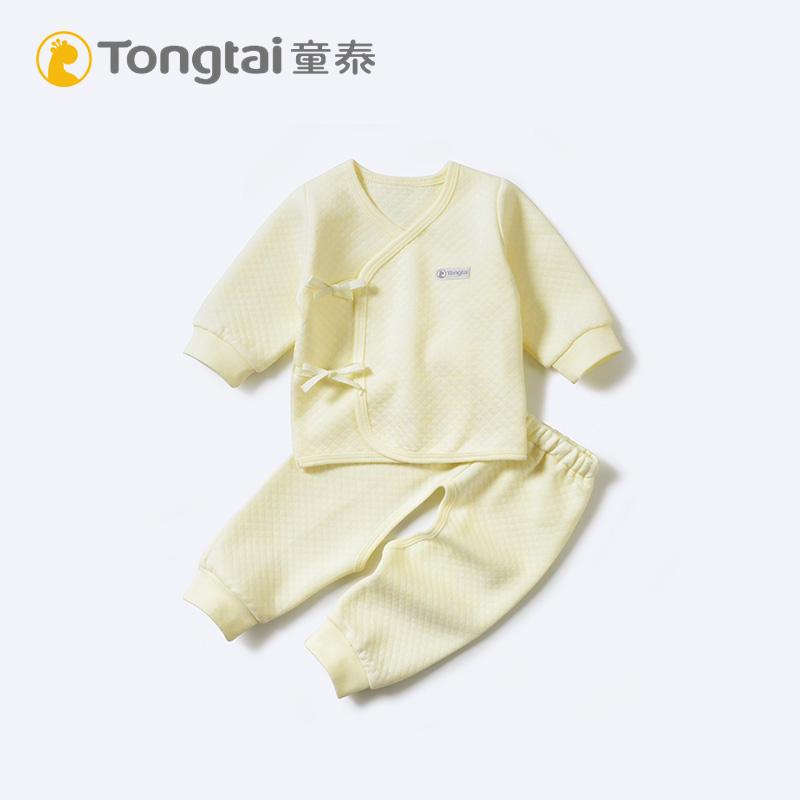 童泰新生儿开裆和尚服套装婴儿保暖内衣秋冬季 有一点夹层