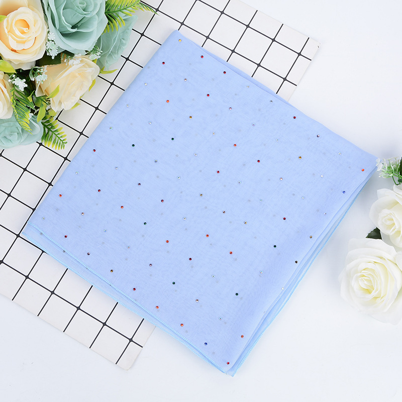 Malay headscarf Balinese yarn stars all over the sky hot diamond square scarf national scarf autumn and winter new versatile