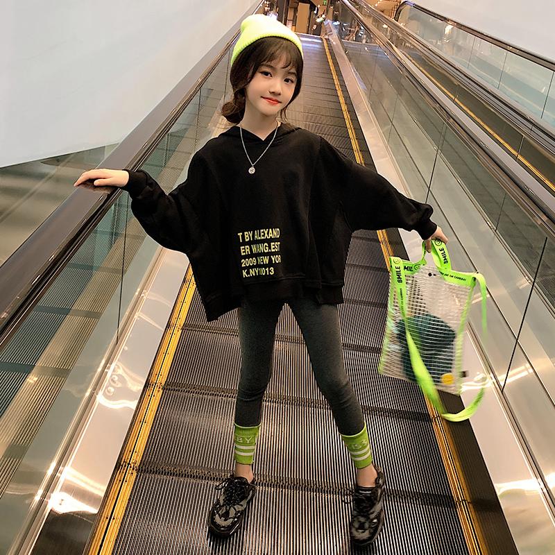 女童秋装洋气儿童网红套装2019新款韩版大童装女孩秋季运动两件套