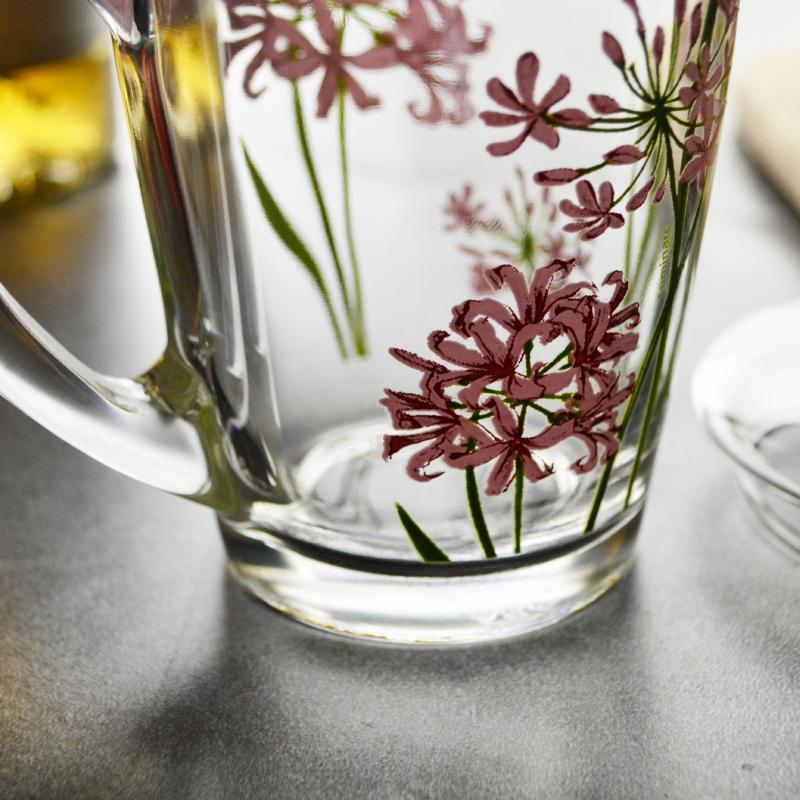 可微波 無鉛鋼化玻璃杯帶把杯子有把熱飲杯咖啡杯帶蓋馬克飲料杯