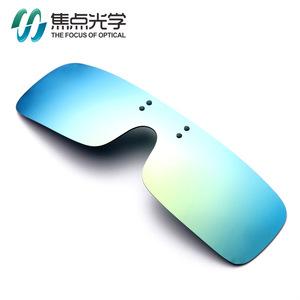 新款一体镜片挂片近视眼睛偏光太阳镜夹片男女墨镜潮开车驾驶眼镜