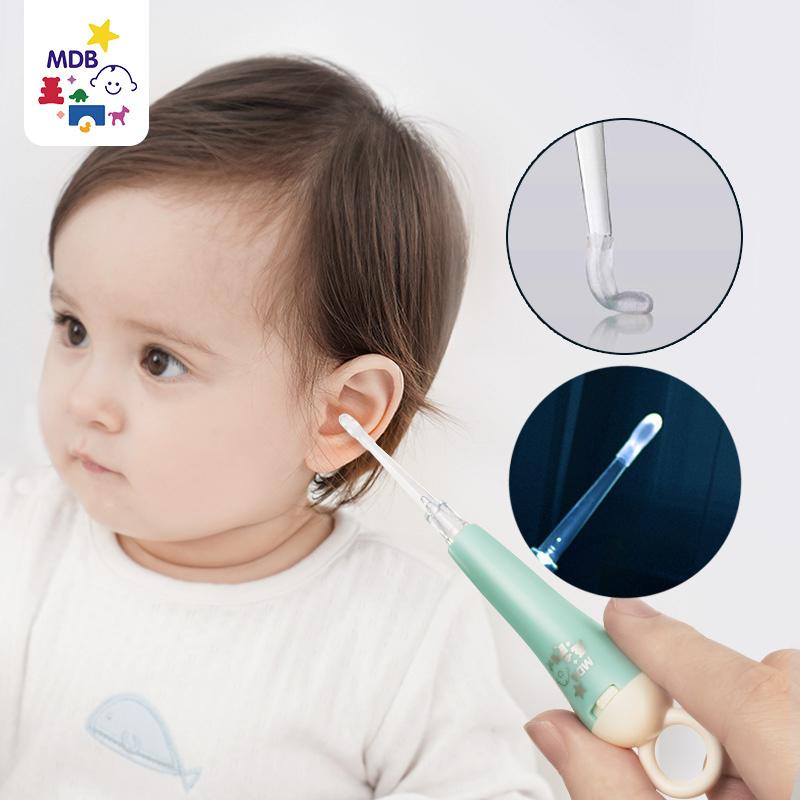 MDB儿童发光耳勺婴儿软头挖耳勺神器宝宝幼儿专用掏耳朵硅胶带灯券后28.90元