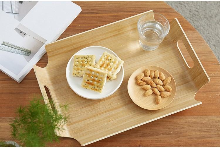 托盘号餐具餐盘手提木制拖盘小号家用茶具茶盘杯盘果盘