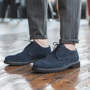 秋男士布洛克雕花皮鞋复古英伦时尚百搭手工男鞋休闲真皮潮鞋子