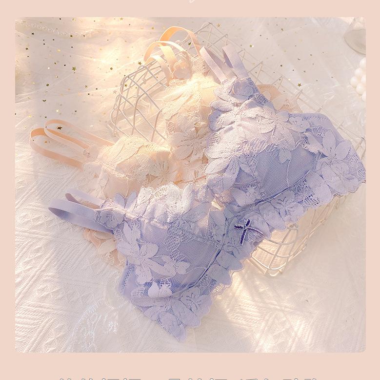 日系6sixty8eight少女婴儿棉内衣无钢圈小胸中厚聚拢调整性感文胸