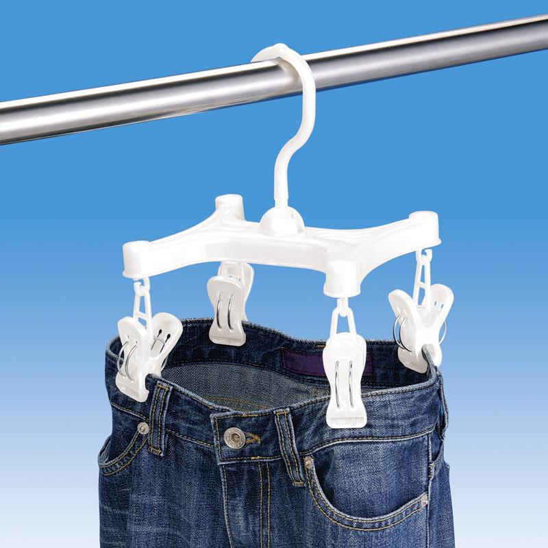 Япония LEC Тан брюки в носки брюки брюки клип стойки висит брюки стойку мыть, сушильное оборудование